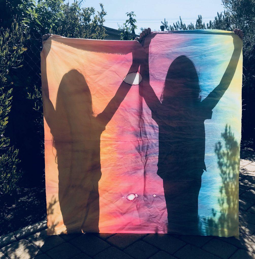 girls w/ tie dye