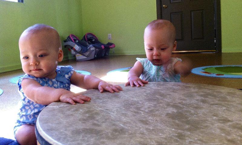 Babies Drumming