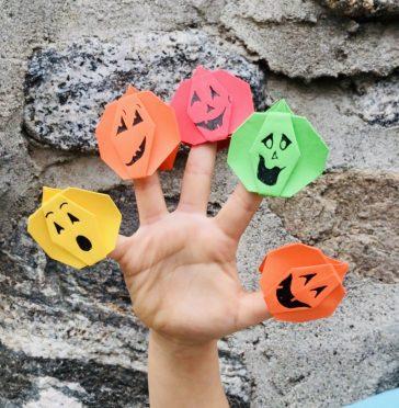 Pumpkin finger puppets